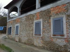 flis på fasade